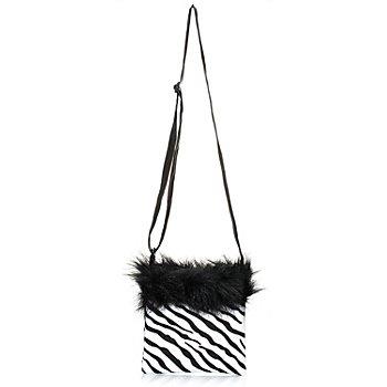 buttinette Tasche Zebra, schwarz/weiß