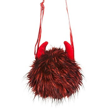 buttinette Sac 'Diable', noir/rouge