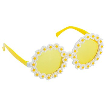Lunettes 'marguerites', jaune