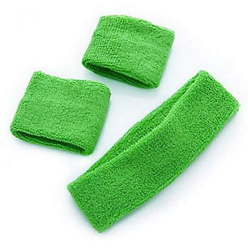 Set de bandeaux anti-sueur, vert