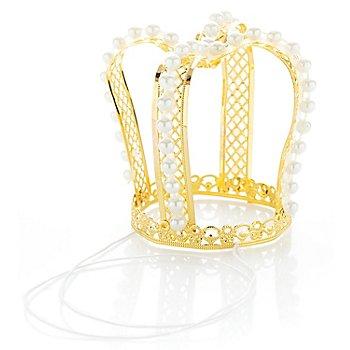 Krone mit Perlen, gold