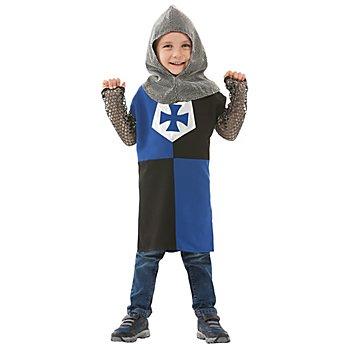 buttinette Ritter Kostüm für Kinder, blau/schwarz
