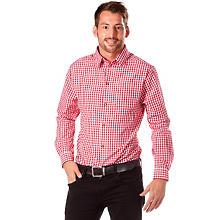 Chemise à carreaux, rouge/blanc