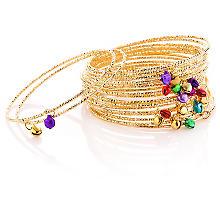 Set de bracelets à clochettes, doré