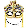"""Venezianische Maske """"Pharao"""", gold/blau"""