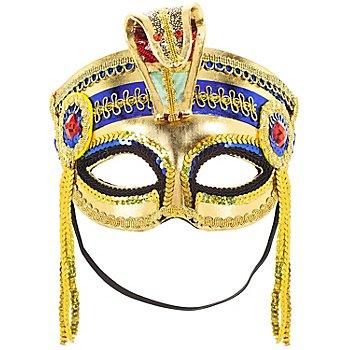 Venezianische Maske 'Pharao', gold/blau