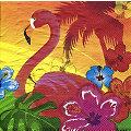 """Serviettes en papier """"Hawaï"""", 33 x 33 cm, 12 pièces"""