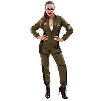 Combinaison 'pilote de chasse' pour femmes, vert olive