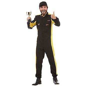 Combinaison pilote automobile homme, jaune/noir