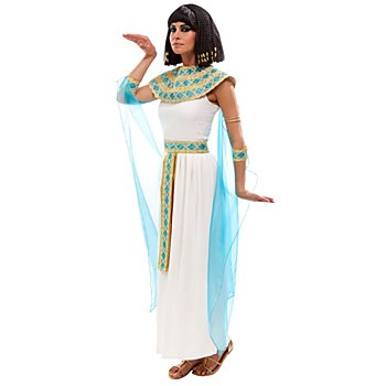Cleopatra Kostüm, creme/türkis