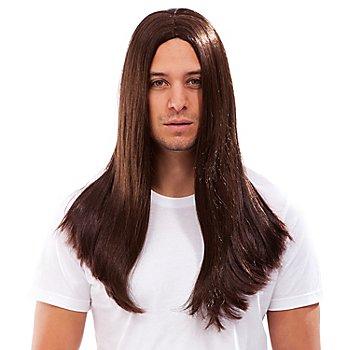 Perruque cheveux longs Hippie 'Lars', marron