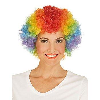 Locken-Perücke 'Clown', bunt