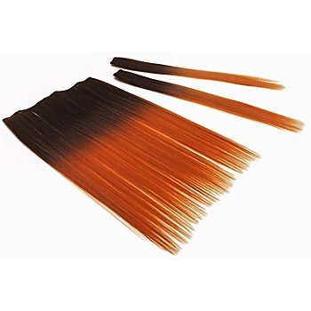 Haar-Extensions, orange/dunkelbraun
