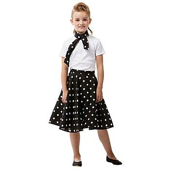 Jupe Rock'n'Roll pour enfants, noir/blanc