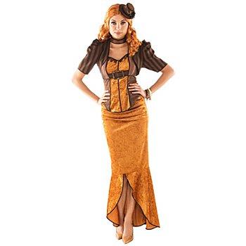 Steampunk Kostüm 'Zeitreise' für Damen, braun