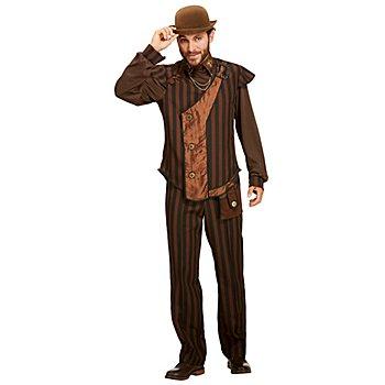 Steampunk Kostüm 'Zeitreise' für Herren, braun