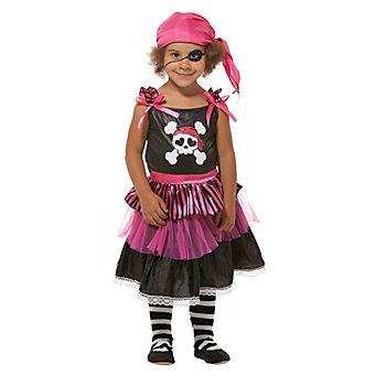 Piratin Kostüm für Kinder, pink/schwarz