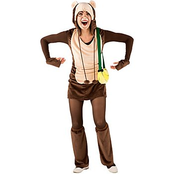 buttinette Affenkostüm 'Kala' für Damen, dunkelbraun/beige