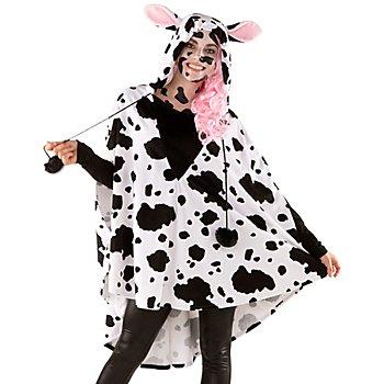 buttinette Poncho 'vache', pour hommes et femmes