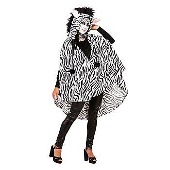 buttinette Zebra Poncho Unisex