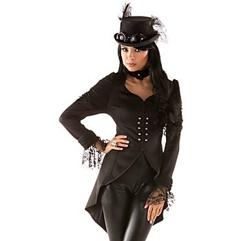 Veste 'Steampunk' pour femmes, noir