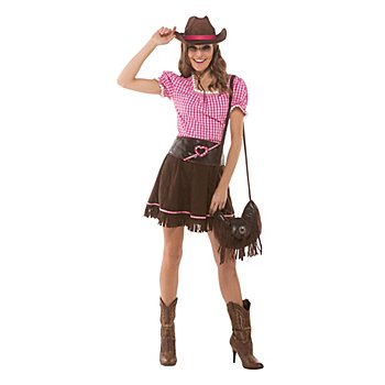 buttinette Déguisement 'cowgirl', rose