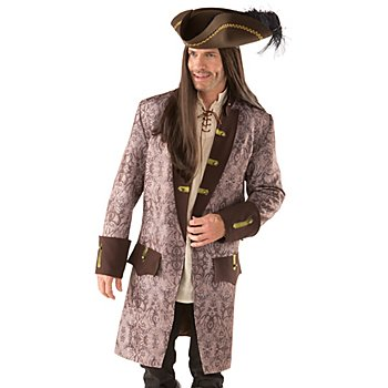 Manteau de pirate à ornements, marron