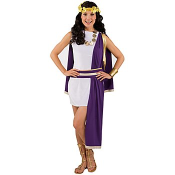 Römerin Kostüm, lila/weiß