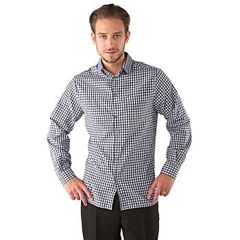 Chemise à carreaux, bleu/blanc