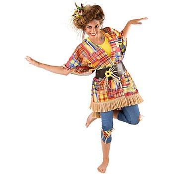 buttinette Kostüm Vogelscheuche für Damen