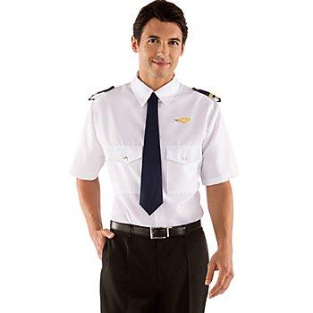 Pilotenhemd, weiss