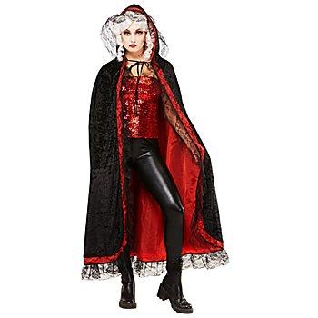 Vampir Umhang 130 cm, schwarz/rot