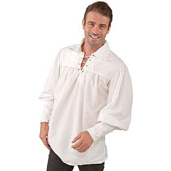 Herren Schnürhemd, beige