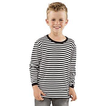Langarmshirt für Kinder, schwarz/weiß