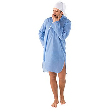 Nachthemd, blau/weiss kariert