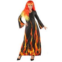 Costume Halloween 'magie du feu' pour femmes