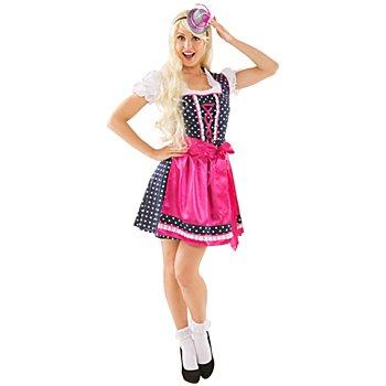 Faschingsdirndl, dunkelblau/pink