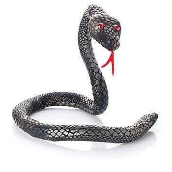 Deko-Schlange, schwarz/silber