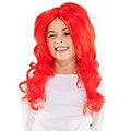 Meerjungfrau Perücke für Kinder, rot