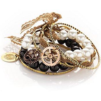 Set de bracelets 'Steampunk', or