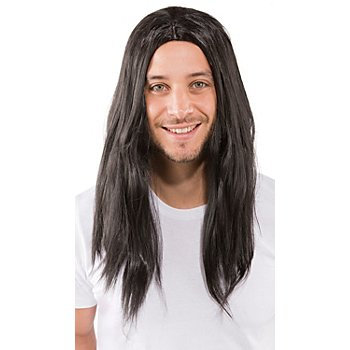 Langhaarperücke 'Viktor', schwarz