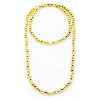 Perlenkette, gold