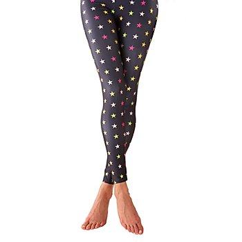 Legging 'étoiles', noir/multicolore