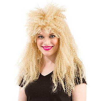 80er Jahre Krepphaar-Perücke, blond