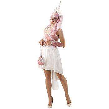 buttinette Einhorn Kostüm, weiss/rosa
