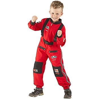 Combinaison 'pilote de course' pour enfants, rouge