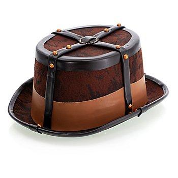 Steampunk Zylinder 'Cornelius', braun/schwarz