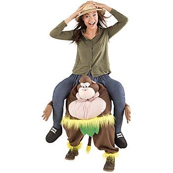 Costume 'homme/femme sur le dos d'un singe' pour hommes et femmes