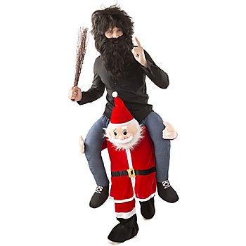 Costume 'homme/femme sur le dos du père Noël' pour hommes et femmes
