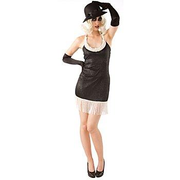 Charleston Kleid 'Daisy', schwarz/creme